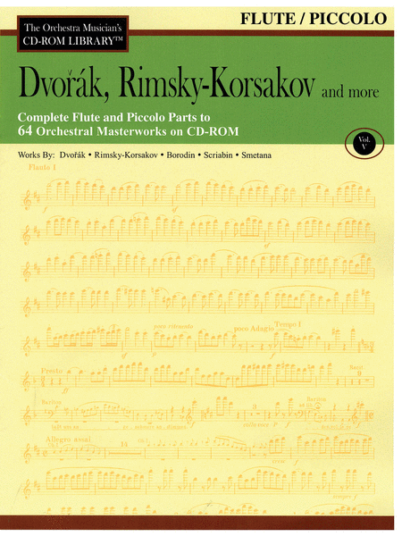 Dvorak, Rimsky-Korsakov and More - Volume V (Flute)
