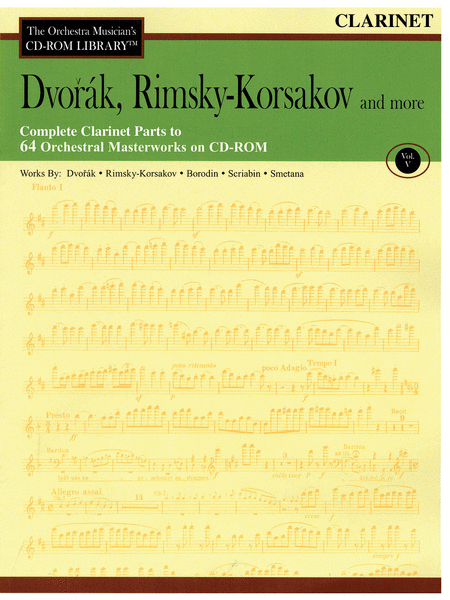 Dvorak, Rimsky-Korsakov and More - Volume V (Clarinet)