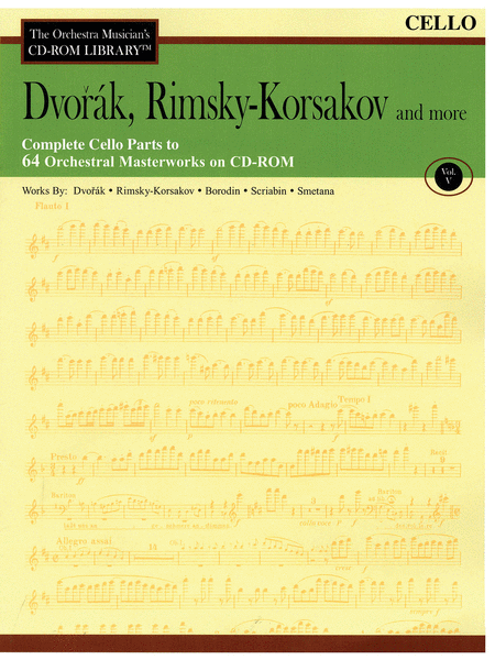 Dvorak, Rimsky-Korsakov and More - Volume V (Cello)