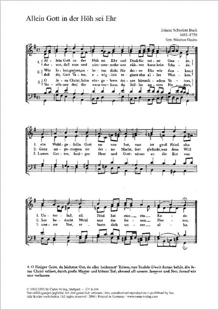 Bach: Allein Gott in der Hoh; Franck: Der Brautigam
