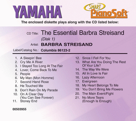 The Essential Barbra Streisand (2-Disc Set) - Piano Software