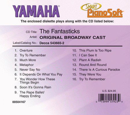 The Fantasticks - Original Broadway Cast - Piano Software