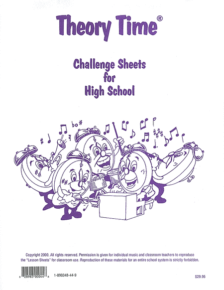 Challenge Sheets for High School