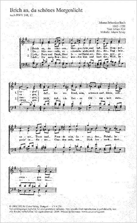 Funf Choralsatze zu Advent und Weihnachten