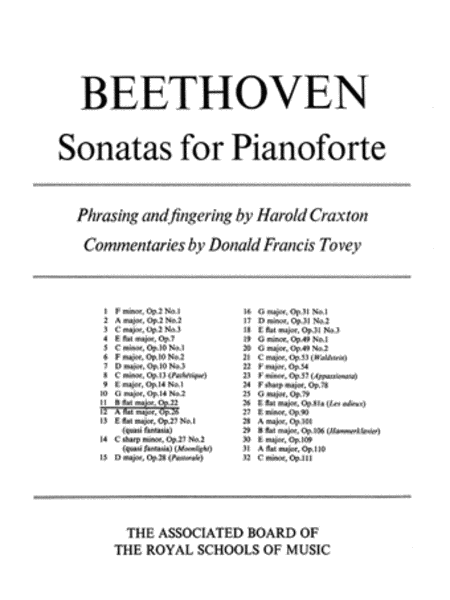 Sonata in Bb for Piano, Op.22