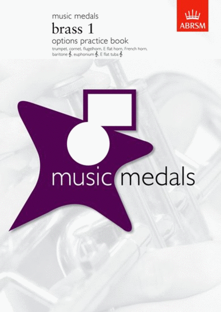 Music Medals Brass 1 Options Practice Book (Copper - Platinum)