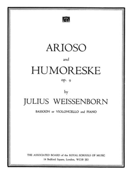 Arioso and Humoreske, Op.9 (for cello or bassoon and piano)