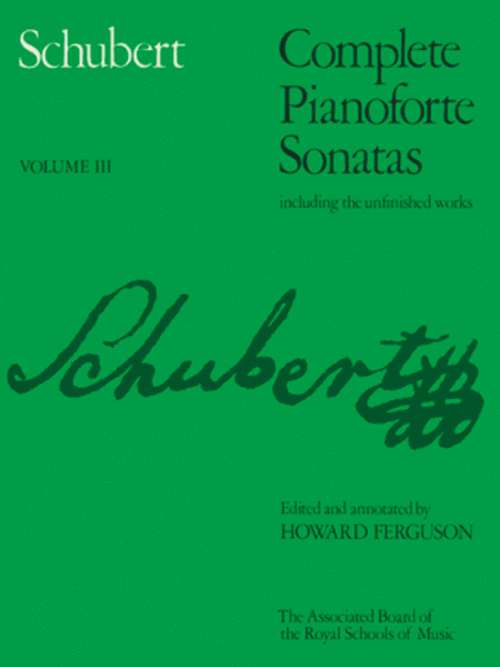 Complete Pianoforte Sonatas Volume 3 (paper cover)