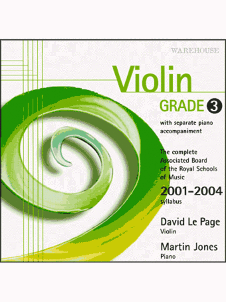 Violin Exam Pieces 2001-4 Grade 3 (CD)
