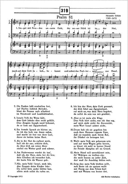 Bach: Dir Jesu, Gottes Sohn; Schutz: Singet mit Freuden