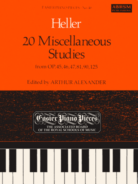 20 Miscellaneous Studies from Op.45, 46, 47, 81, 90 & 125