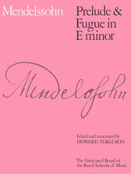 Prelude & Fugue in E minor