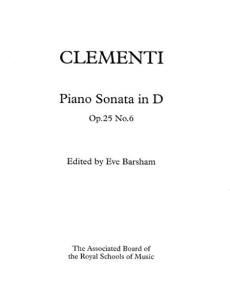Sonata in D Op. 25 No. 6