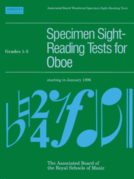 Specimen Sight-Reading Tests for Oboe, Grades 1-5