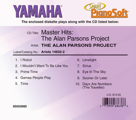 The Alan Parsons Project - Master Hits - Piano Software