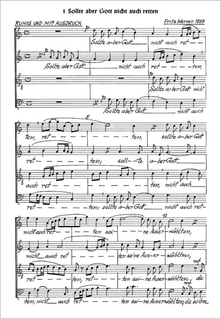 Werner: Sechs Motetten