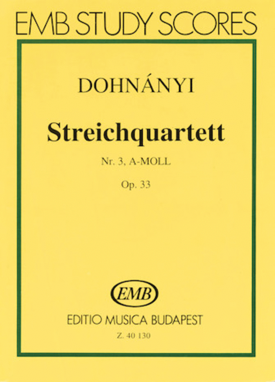 String Quartet No. 3 in A Minor, Op. 33