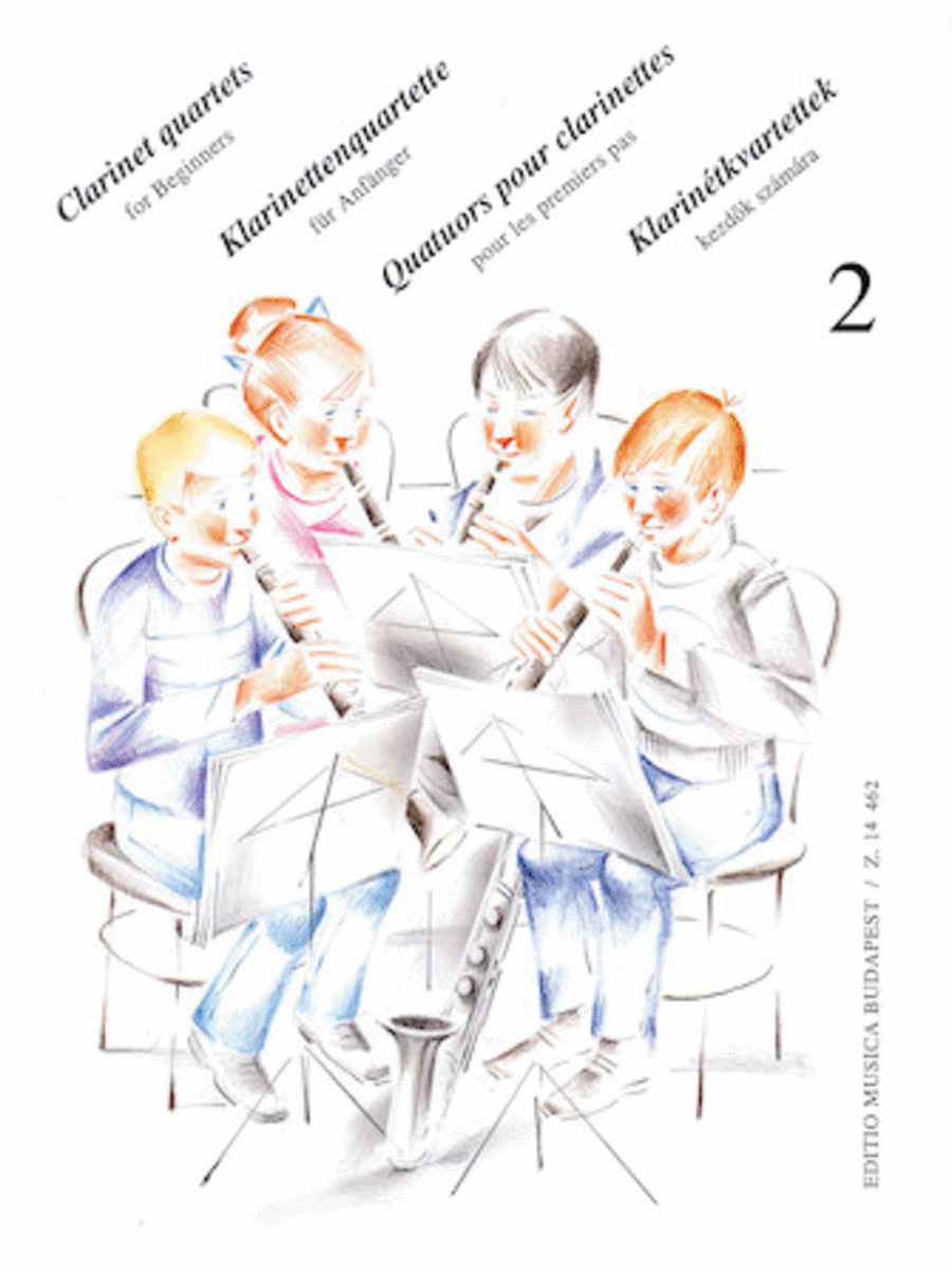 Clarinet Quartets for Beginners - Volume 2