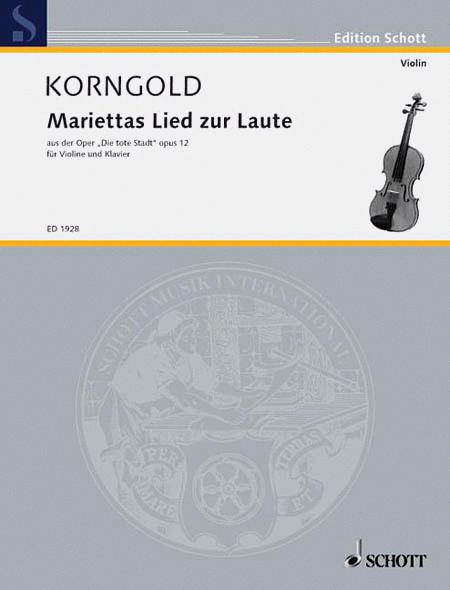 Marietta's Lied from Die Tote Stadt Op. 12
