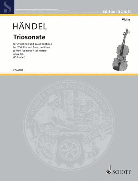 9 Trio Sonatas Op. 2, No. 6