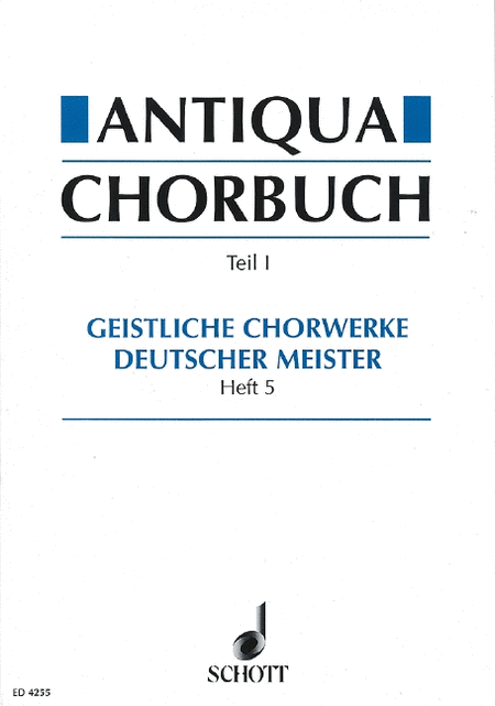 Antiqua Chorbuch Sacred Vol 5