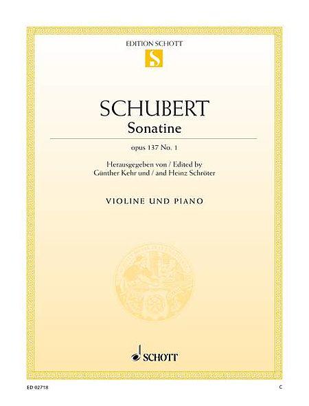 Sonatina in D Major, Op. 137, No. 1, D. 384