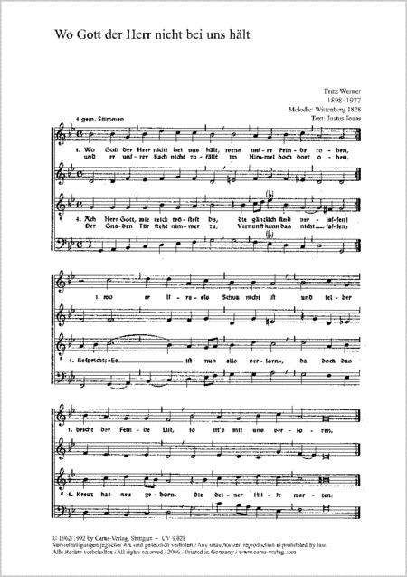 Wo Gott der Herr nicht bei uns