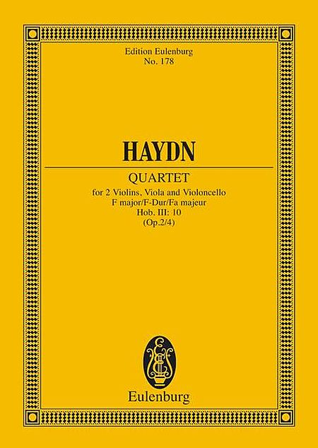 String Quartet in F Major, Op. 2/4, Hob.III:10