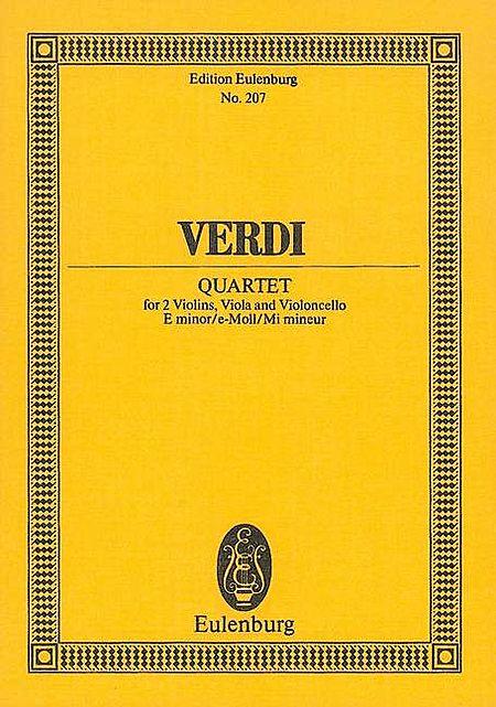 String Quartet in E minor
