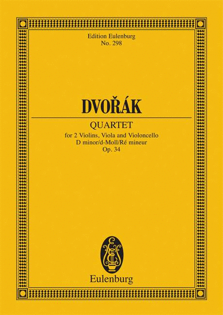 String Quartet in D Minor, Op. 34, B 75