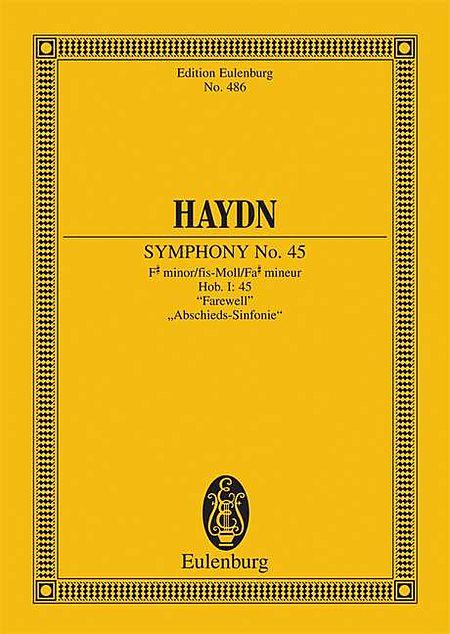 Symphony No. 45 in F-sharp minor, Hob.I:45 Farewell