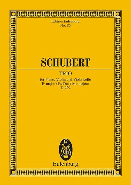 Piano Trio, Op. 100, D. 929 in E-Flat Major