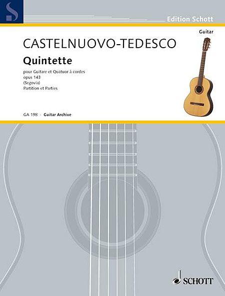 Quintet Op. 143 (for Guitar and String Quartet)