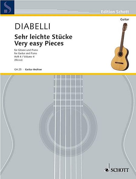 Very Easy Pieces for Guitar and Piano