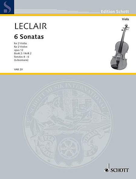 6 Sonatas, Op. 12, Volume 2: 4-6