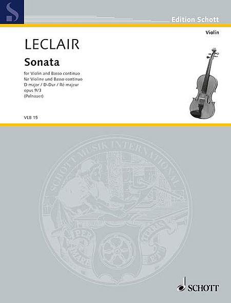 Sonata in D Major, Op. 9/3