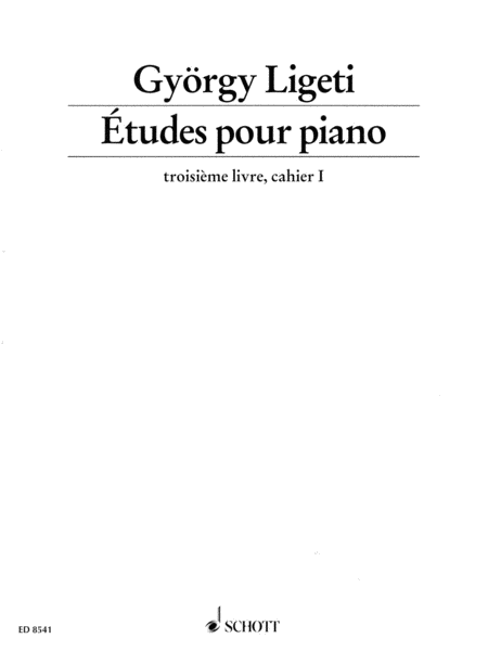 Etudes for Piano - Volume 3