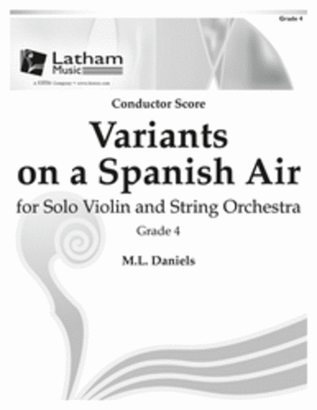 Variants on a Spanish Air for Solo Violin and String Orchestra - Score