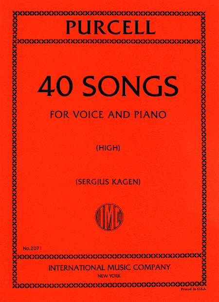 Forty Songs. Complete in One Volume - High