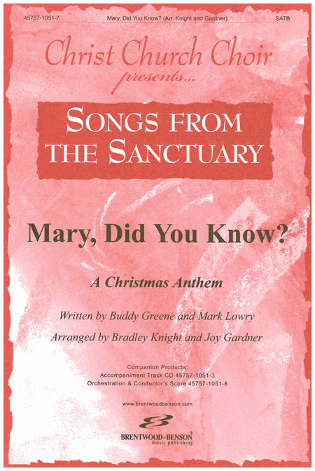 Mary Did You Know (Split Track Accompaniment CD)