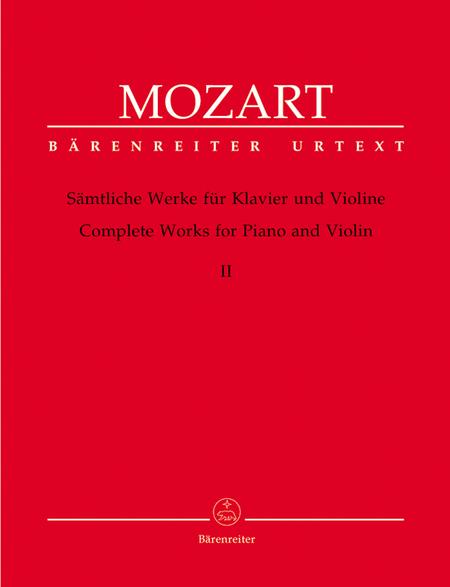 Samtliche Werke fur Klavier und Violine, Band 2