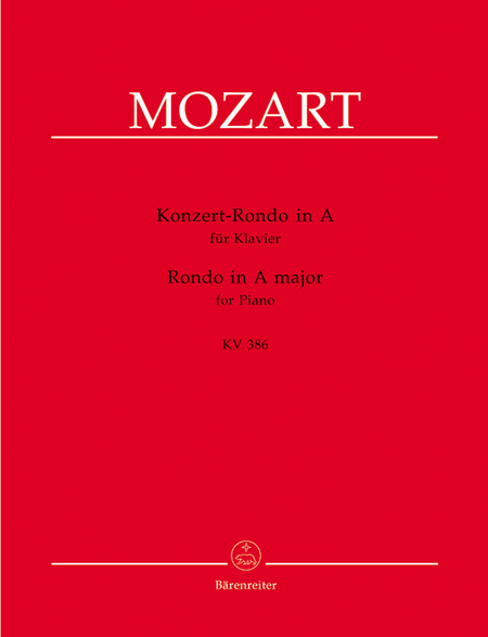 Concert Rondo for Piano A major KV 386
