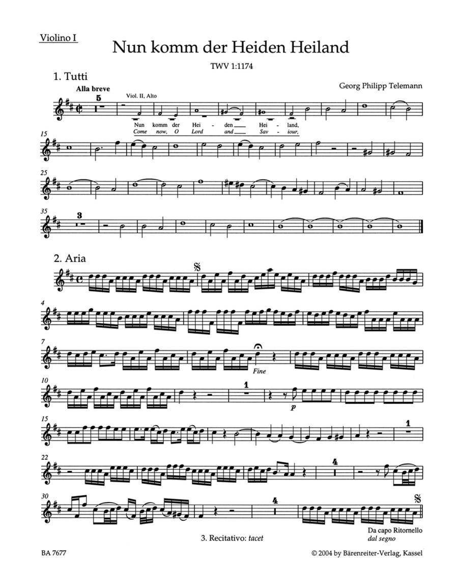 Come thou of man the Saviour TWV 1:1174