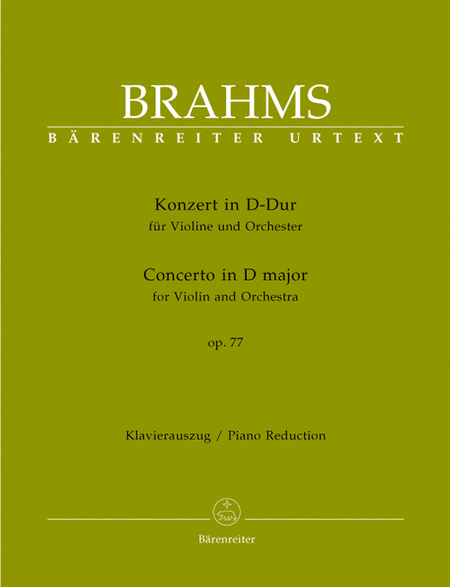 Concerto for Violin and Orchestra D major, Op. 77