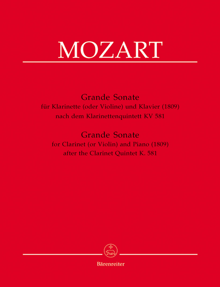 Grande Sonate for Clarinet (or Violin) and Piano A major