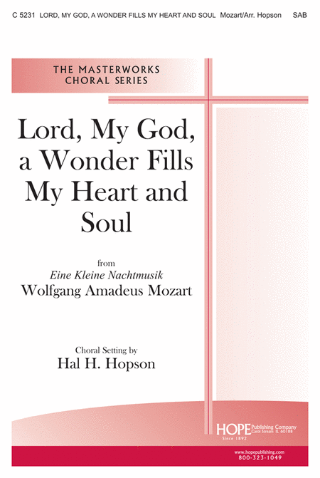 Lord, My God, A Wonder Fills My Heart and Soul