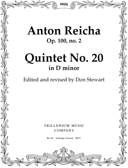 Quintet No. 20 in D minor