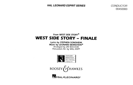 Somewhere/tonight (from west Side Story) Full Score