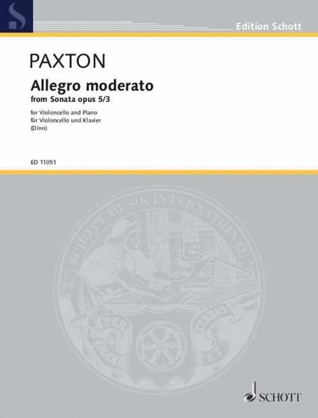 Allegro Moderato from Sonata Op. 5, No. 3