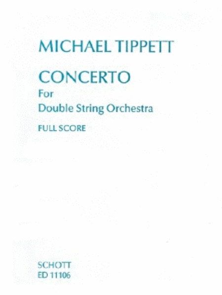 Concerto For Double String Orch Fs